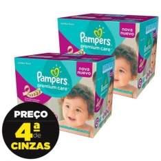 [Kangoolu] Combo Fralda Pampers Premium Care Jumbo G e XG por R$ 117