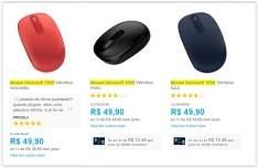 [Submarino] Seleção de Mouses da Microsoft sem fio a partir de R$ 50