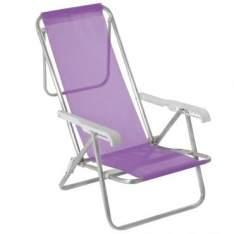 [Ricardo Eletro] Cadeira 8 posições Alumínio Sannet Lilás - Mor por R$ 63