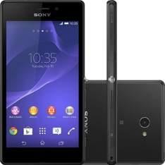 """[Sou Barato] Smartphone Sony Xperia M2 Aqua Desbloqueado Android 4.4 Tela 4.8"""" 8GB 4G Wi-Fi Câmera 8MP - Preto por R$ 699"""
