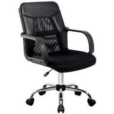 [Extra] Cadeira Home Office Work Plus com Encosto em Nylon e Regulagem de Altura a Gás por R$190