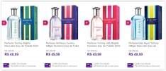 [Sou Barato] Perfume Tommy Hilfiger Eau de Toilette 50ml (diversos tipos) por R$ 45