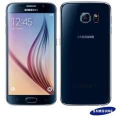 """[FastShop] Galaxy S6 Preto Samsung, com Tela de 5,1"""", 4G, 32 GB e Câmera de 16 MP - G920I -R$1906,33"""