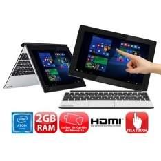 """[Casas Bahia] Notebook/Tablet 10.1""""  windows 10 Intel® Atom™ Quad Core, 2GB, 32GB SSDMini HDMI, Bluetooth por R$ 1081"""
