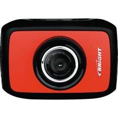 """[Casa e Vídeo] Câmera de Ação Bright Sport 5MP com Tela de 1,7"""", Gravação de Vídeo e Case à Prova D'água 0384 Vermelha R$89,90"""