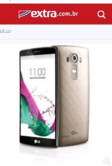 """[Extra]Smartphone LG G4 Dual Chip H818P Dourado Tela 5.5"""", Android 5.0, 4G, Câmera 16MP R$ 1709"""