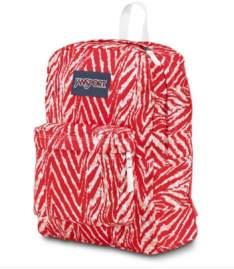 [Allbags] Mochila JanSport Superbreak Vermelha e Branca - R$99