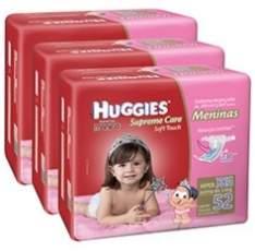 [AMERICANAS] kit 3 fraldas huggies (M, G, XG...) - R$ 126