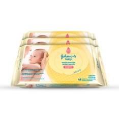 [Netfarma] Kit Johnson`s Baby Lenços Umedecidos Recém-Nascido - R$18