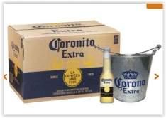 [Empório da Cerveja/Sócio Torcedores] Cerveja Coronita, Caixa com 24 Unidades+Balde Corona 05 litros por R$ 97