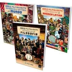 [Americanas] Kit Livros - Guias Politicamente Incorretos da Filosofia, América Latina e da História do Mundo - R$23