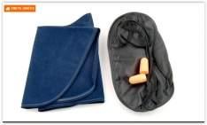[PEIXE URBANO/BUG] Kit Viagem com Travesseiro, Máscara e Protetor. Cores Azul e Cinza! Frete grátis! por R$ 5