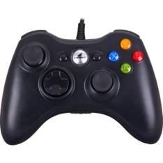 [VOLTOU - Submarino] Controle Com Fio Para Xbox 360 E Pc Preto Xgc101 Fortrek - por R$80