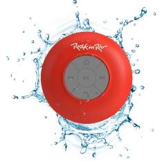 [Submarino] Caixa de Som Bluetooth Aquarius Rock in Rio Vemelha 3W RMS USB Resistente à Água