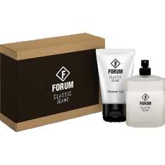 [Sou Barato] Kit Perfume Forum Classic Jeans Unissex 100ml + Shower Gel 90ml - R$50