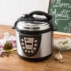 [Shoptime] Panela de Pressão Elétrica Fun Kitchen Inox 4L com 2 Anos de Garantia por R$ 180