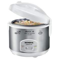 [CASAS BAHIA] Panela Elétrica Mondial Pratic 10 Rice & Vegetable Cooker PE-16 - Branca - R$ 79,92 com o cupom LIQUIDA
