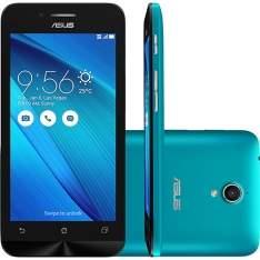 """[SHOPTIME] Smartphone ASUS Zenfone Go Dual Chip Desbloqueado Android 5.0 Tela 5"""" 16GB 3G 8MP - Azul - R$ 647,19 no boleto ou R$ 719,10 parcelado -  Use o cupom MEGAOFF"""