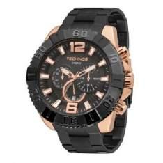 [CLUBE DO RICARDO] Relógio Masculino Cronógrafo Technos, Caixa de 5,2 cm, Pulseira de Aço, Resistente a Água 100 Metros - OS20IC/5P - R$ 379,90 em até 3 x sem juros!!!