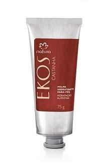 [Natura] 50% desconto  Polpa Desodorante Hidratante para os Pés Castanha Ekos - 75g R$ 17