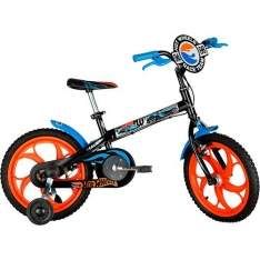 [Sou Barato] Bicicleta Caloi T10R16V1 Hot Wheels Aro 16 Preta