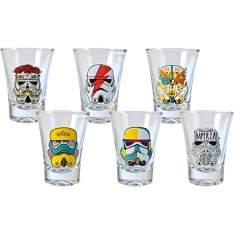 [SUBMARINO] Jogo com 6 copos Shot Stormtrooper Pop Art R$30