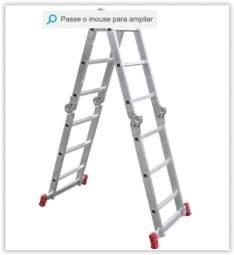 [Submarino] Escada Multifuncional Alumínio Articulada 3x4 12 Degraus 14 Posições - Botafogo Lar e Lazer por R$ 176