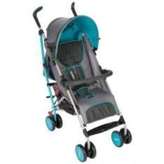 [Ricardo Eletro] Carrinho de Bebê Umbrella Ride c/ Encosto Reclinável Azul Aqua por R$294