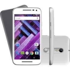 """[AMERICANAS] Smartphone Motorola Moto G (3ª Geração) EDIÇÃO TURBO Dual Chip Desbloqueado Android Tela 5"""" 16GB 4G 13MP - Branco - R$ 1072,18 no boleto com o cupom 10MEGA."""