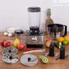 [Shoptime] Processador de Alimentos Master Fun Kitchen Inox 800W - R$264