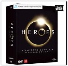 [Voltou - Submarino] DVD - Heroes: A Coleção Completa - Temporadas de 1 a 4 (21 Discos)  por R$ 50