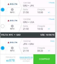 [Submarino viagens]  Passagem aérea a partir de R$ 878 ida e volta a Nova York