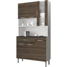 [Americanas] Armário de Cozinha Kit's Paraná Kits Golden - 6 Portas e 1 Gaveta Branco/Dubai por R$ 148