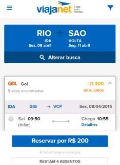 [Viajanet] Passagens aéreas à partir de R$ 69,00