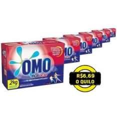 [Ponto Frio] Kit Detergente em Pó Omo Multiação 2kg – 6 unidades - por R$80