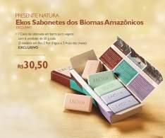[Natura]  Presente Natura Ekos Sabonetes dos Biomas Amazônicos - 6und de 50g R$ 25