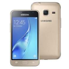 """[Extra]Samsung Galaxy J1 Mini Duos Dourado com Dual Chip, Tela 4.0"""", 3G, Câmera de 5MP, Android 5.1 e Processador Quad Core de 1.2 GHz por R$ 528"""
