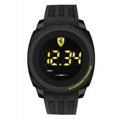 [Vivara] Relógio Scuderia Ferrari Masculino Borracha Preta - 830229 -  FR00000100 por R$ 375