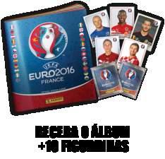 [Torcida Panini] Album de Figurinhas UEFA 2016 + 10 Figurinhas - Grátis