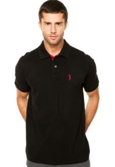 [Dafiti] Camisa Polo Aleatory Lisa Preta R$90