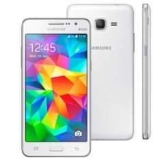 """[Extra.com] Smartphone Samsung Galaxy Gran Prime Duos SM-G531 Branco com Tela de 5"""", Dual Chip, Câmera 8MP, Android 5.1 e Processador Quad Core de 1.3Ghz por R$ 620"""