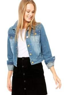 [Dafiti] Jaqueta Mooncity Jeans Azul R$75