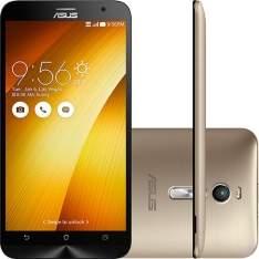 """[Shoptime] Smartphone Asus Zenfone 2 Dual Chip Desbloqueado Android Tela 5.5"""" 16GB 4G Wi-Fi 13MP - Dourado por R$ 998"""