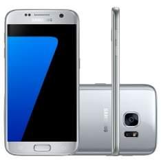 """[Mega Mamute] Smartphone Samsung Galaxy S7 SM-G930F Desbloqueado Tela 5.1"""" 4G Android 6.0 Prata por R$  3078"""