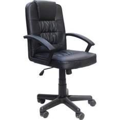[AMERICANAS] :Cadeira Presidente MB-1513 Giratória Base Cromada Preto - Travel Max por R$ 194