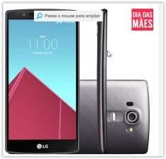 [SUBMARINO] LG G4 Dual Chip Desbloqueado Android 5.1 Lollipop Tela 5,5'' 32GB Wi-Fi Câmera de 16MP - Titânio por R$ 1538