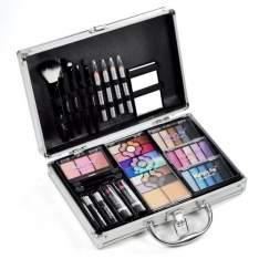 [Americanas] Macrilan Maleta De Maquiagem Com Sombra 3d E Jogo De 5 Pincéis R$99