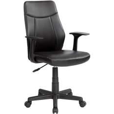 [Americanas] Cadeira Presidente MB-OP839 Giratória, Regulagem de Altura e Apoio de Braços Preta - Travel Max por R$ 179