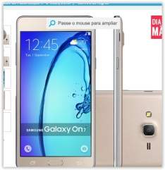 "[Submarino] Smartphone Samsung Galaxy On7 Dual Chip Desbloqueado Android 5.1 Tela 5.5"" 8GB 4G 13MP - Dourado por R$ 726"
