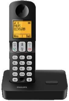 [SARAIVA] Telefone Sem Fio Philips Preto D4001B Viva Voz Identificador 16 Hrs Bateria - R$ 135,79